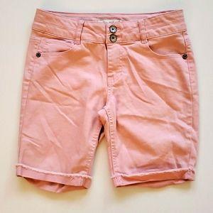 Imperial Stars Cuffed Colored Denim Bermuda Shorts